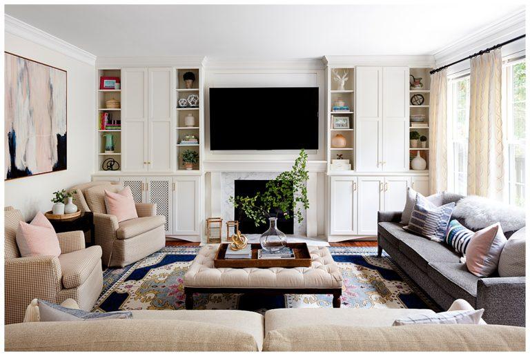 Julia Longchamps Design, Web Foot Remodel, Family Room Built-ins, Maryland