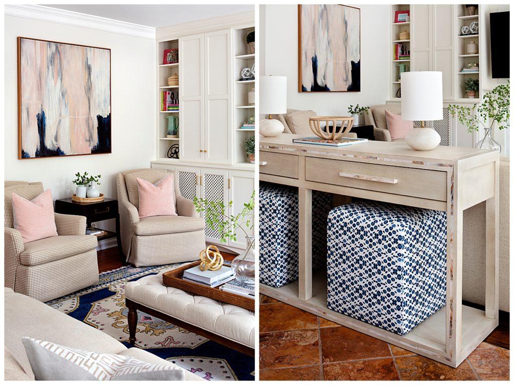 Julia Longchamps Design, Web Foot Remodel, Family Room, Interior Design